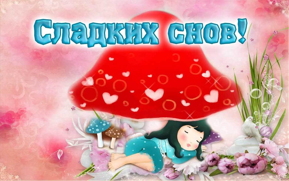 Cпокойной ночи сладких снов детские картинки и фото