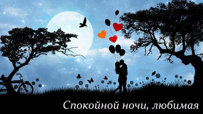 Спокойной ночи любимая» картинки с надписями